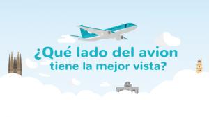 ¿Qué lado del avión tiene la mejor vista?